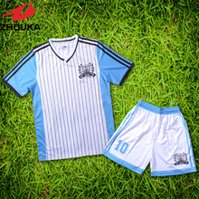 V Neck personal soccer uniform set customizing latest design sublimation soccer jerseys