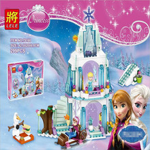 New arrival Elsa's Sparkling Ice Castle Anna Olaf Princess Set Building Blocks Set Model Bricks Toys L41062 Girls Toys P009
