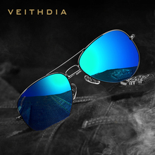 VEITHDIA Brand Classic Fashion Polarized Sunglasses Men/Women Colorful Reflective Coating Lens Eyewear Accessories Sun Glasses