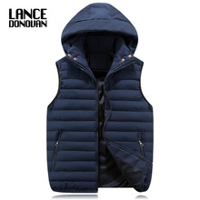 9 STYLES Men Vest 5XL 6XL 7XL 8XL MAX CHEST 148CM New 2017 Autumn Winter Waistcoat With Hooded(China)