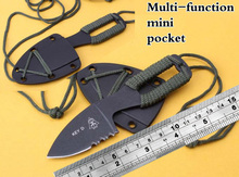 key d mini cutting knife tops dive scuba with ABS sheath scabbard holster outdoor camp hike pocket rescue survive self defense