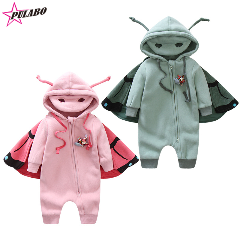 high quality new brand baby girls spring and fall romper baby boys butterfly style jumpsuit infant zipper clothing drop shipping<br><br>Aliexpress