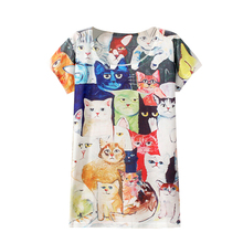 New Fashion Vintage Spring Summer Harajuku T Shirt Women Clothing Tops sunflower/animal Print Summer Hot