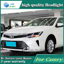 Car Styling Head Lamp case for Toyota Camry 2015 LED Headlights DRL Daytime Running Light Bi-Xenon HID Accessories(China)