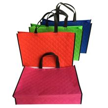 wholesales 500pcs/lot 45x32Hx11cm custom TNT non woven shopping bags /elegant handle shopping bags with printing comapny logo(China)