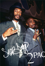G7191 Custom 2PAC Snoop Dogg #e Home Decor modern For Bedroom Wall Poster Size 40x60CM Wall Sticker W@191