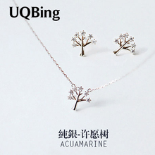 Buy Drop 925 Sterling Silver Chain Necklaces Wishing Tree Pendants&Necklaces Jewelry Collar Colar de Plata for $4.16 in AliExpress store