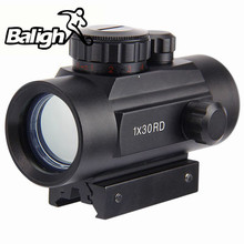 Balight 10cm Length Airsoft Rifle Tactical Holographic Sight Cross Hari Red Dot Sight Scope Riflescope With 30mm Rail Mount