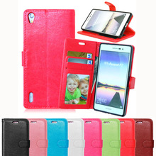 P7 Wallet Magentic Flip PU Leather Case For Huawei Ascend P7 Cover Card Holder With Stand Retro Luxury Mobile Phone Bag Shell(China)