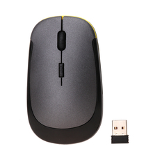 USB Optical Wireless Mouse 2.4G Receiver Super Slim Mouse Cordless Computer PC Laptop Desktop  With 800/1200/2400 Dpi