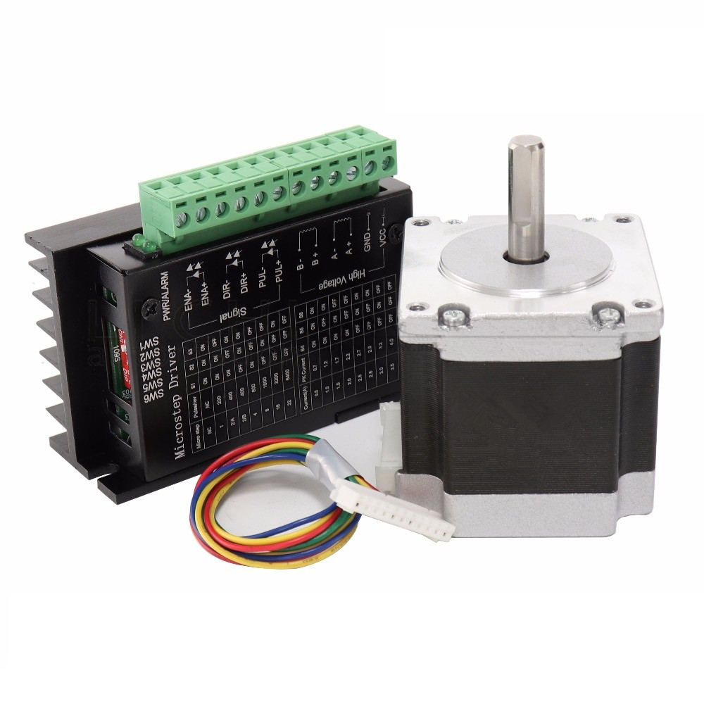 Nema 23 23HS5628 Stepper Motor 57 motor 2.8A with TB6600 stepper motor driver NEMA 23 for CNC and 3D printer<br>
