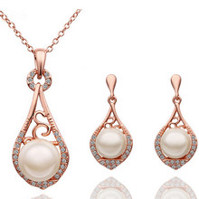 2016 fashion Female fine jewelry vintage wedding bridal imitation pearl Jewellery sets for women jewelry sets