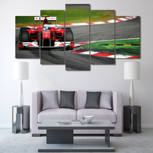 HD Printed F1 car Group Painting wall art Canvas Print room decor print poster picture canvas Free shipping/ny-436