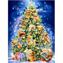 Home decoration 3D diamond embroidery Christmas Tree Bear Diamond Painting Christmas Gift Rhinestones Crafts Set Embroidery
