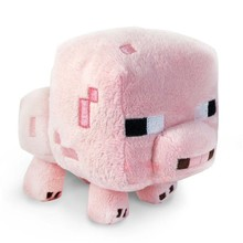 2016 New Arrival Minecraft Plush Toys 16CM Cute Pink Pig Soft Plush Stuffed Toys Kids Favor Animal Dolls Holiday Gift For Girls