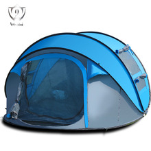 Wnnideo 3-4 Person Instant Pop-up Fast Camp Big Tent for Outdoor Hiking Traveling Windproof Portable Ultralight