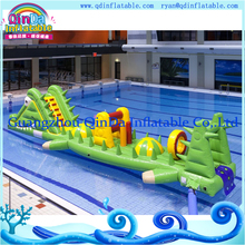 QinDa water amusement park floating bouncer inflatable water slides wholesale water obstacle