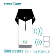 Free Shipping!!FreedConn Brand Silver Motorbike Helmet To Helmet 1000M Bluetooth Motorcycle Intercom Headset NFC FM radio