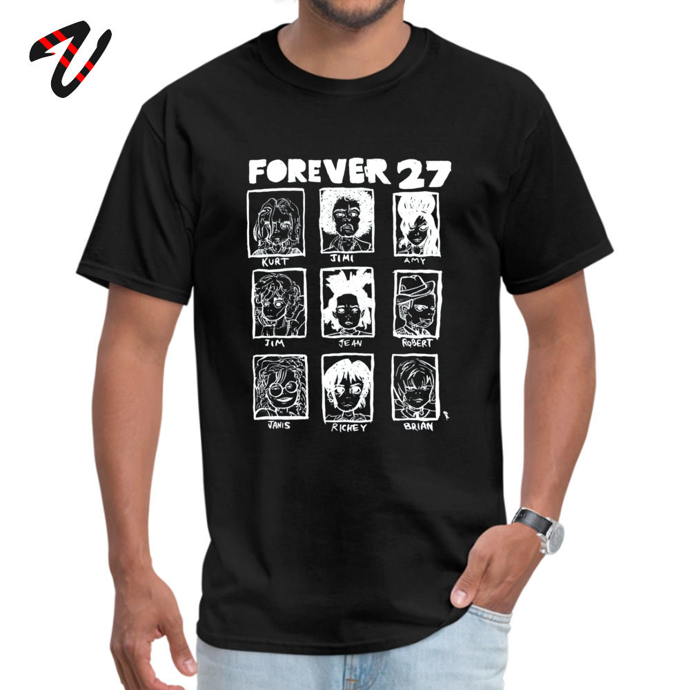 ForeverClub Geek Short Sleeve Tops Tees Autumn Round Neck All Cotton Men T Shirt Geek Clothing Shirt Oversized Forever 27 Club 736 black