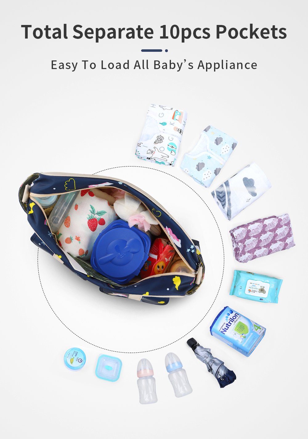 Waterproof Multifunctional Diaper Bag 3