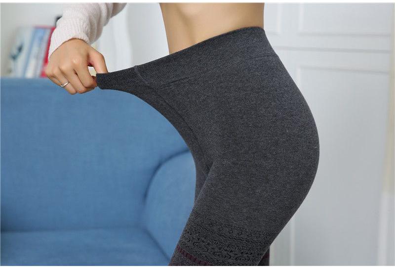 Winter Leggings, Women's High Waist Warm Leggings 13