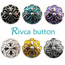D01265 wholesale Press Studs Heart-shaped Oil Painting Snap Button Bracelet For Women charm DIY 18mm RIvca Snap Button Jewelry