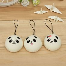 10Pcs Mochi Panda Mobile Phone Straps Universal Cute Cute Cartoon Buns Bag Chain Pendant Decor Handbag Children Toys Randomly