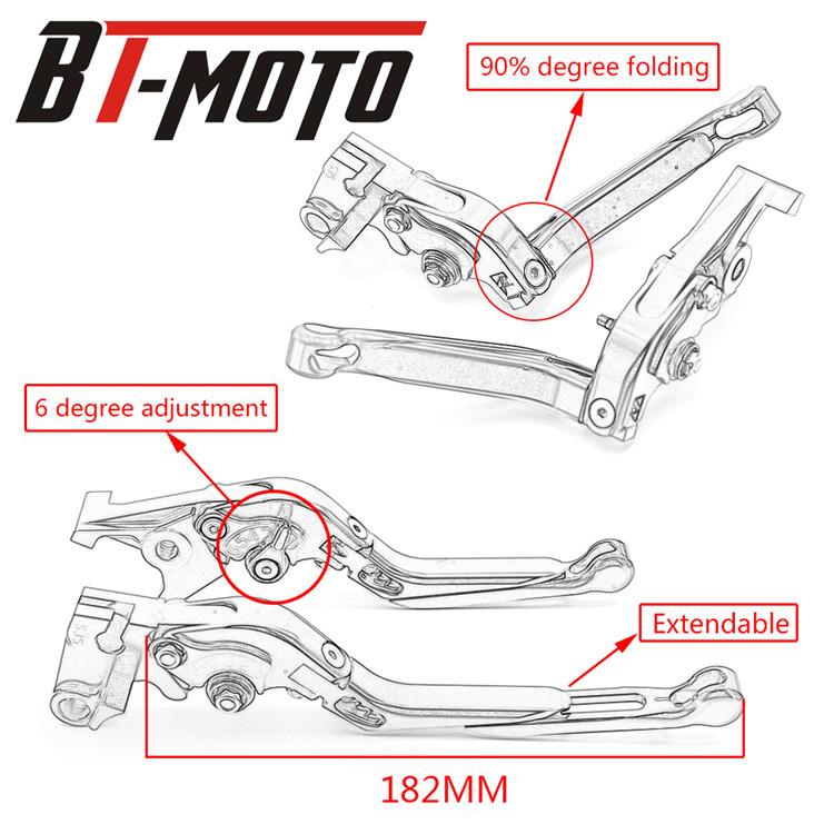 3D CNC Adjustable Short Brake /& Clutch levers for 2014-2015 Honda CBR650F//CB650F