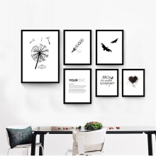 No Frame Simple Pen Bird Letter Print Nordic Poster Canvas Wall Art Picture Creative Mural Painting for Living Room Office Shop