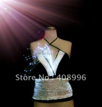 Sexy optical fiber fabric luminous Vest for performance/fashion show/Singular dress/Show Clothing