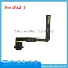 5pcs/lot NEW Black White Charger Charging Port Dock Connector with Flex Cable For iPad Air iPad 5 Free Shipping