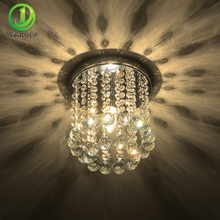 Home Decoration LED Crystal Ceiling Lights Mini Modern Rain Drop Lighting Crystal Ball Fixture Pendant Ceiling Lamps(China)