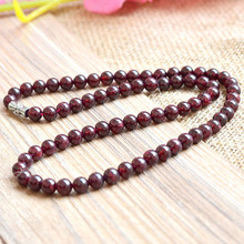 Grade AA natural garnet necklace beads 6mm health beauty fine jewelry accessories bijoux women chains jewellery gifts 0159