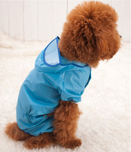 Dogs Clothes Raincoat Dog Clothes Pet clothes Teddy poodle puppy dog poncho raincoat legs