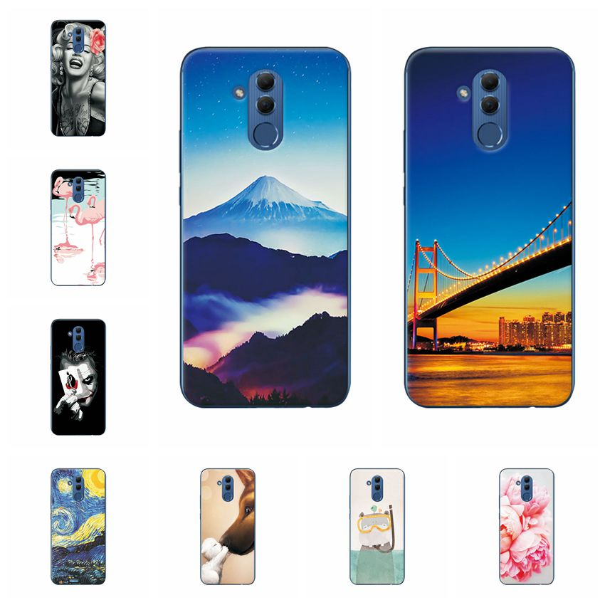 YOUVEI Colorful Scenery Chic Phone Case Cover For Huawei Mate 20 Lite 6.3'' Case Soft Silicon Coque For Huawei Mate 20 Lite