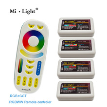 Mi Light Wireless 2.4G 4-Zone RGB remote control For RGB LED Strip 2017 New arrival RGBWW Led Remote Controller(China)