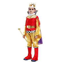 2017 Luxury Children Boys Arab Prince Cosplay Costume For Kids Stage Performance Costumes Halloween Party Fancy Dress Decor