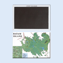 Indonesia  Batam Tourist Map 22523   Souvenirs of  Worldwide Tourist;  gifts for friends. Home Furnishing decoration.Magnet.