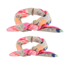 2pcs Fashion DIY Mama Rabbit Ears Headband Cute Bow Hairband Turban Knot Head Wrap Hair Accessories