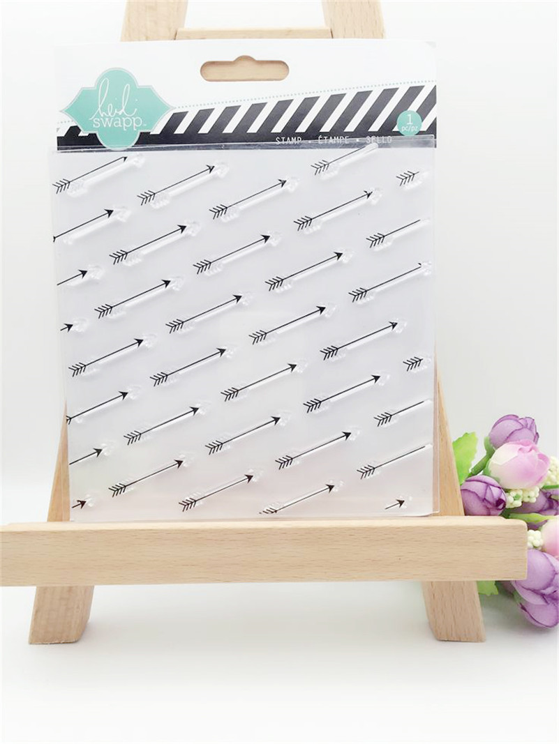 arrows background design silicon stamps scrapbooking stamp for kids diy paper card for christmas gift poto Album YUW097<br><br>Aliexpress
