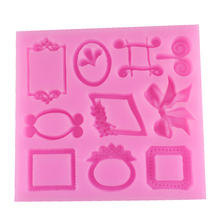 F1159 FREE SHIPPING European style small retro frame cake border rim Silicone Cake Mold Baking Accessories Decorations Fondant(China)