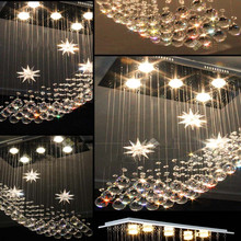 LED crystal chandelier lamp room bedroom lamp chandelier hanging creative restaurant modern minimalist personality lamps