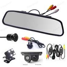Auto Parking Assistance system Universal wireless 4.3 inch Car LCD Rearview Mirror Monitor CCD Video with Reversing Camera