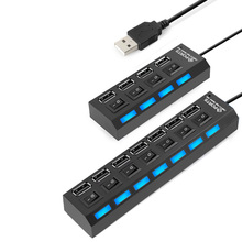 USB Hub 2.0 High Speed 480Mbps 4 7 Ports Micro Hub USB On Off Switch USB Splitter Adapter For PC Laptop Computer USB Hub(China)