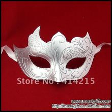 100% Handpainted Venetian Wedding Masquerade Mask Wholesale White Silver Wedding Favor, Wedding Gift Mask, Party Mask