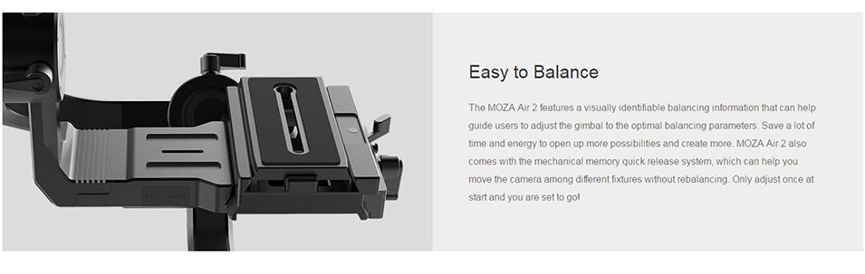 DIGITALFOTO Moza Air 2 Maxload 4.2KG DSLR Camera Stabilizer 3 Axis Handheld Gimbal for Canon Nikon PK DJI Ronin S Zhiyun Crane 2 10