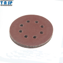TASP 25PC 125mm Aluminum Oxide Sand Paper Hook & Loop Abrasive Sanding Disc with Grits 60~1500(China)
