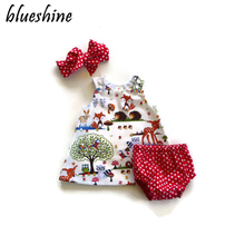 3pcs/lot Summer Newborn Baby Girl Clothes Infant Suspenders Ropa de bebe nina Baby Wear Jumpsuits Clothing Suit Baby Romper