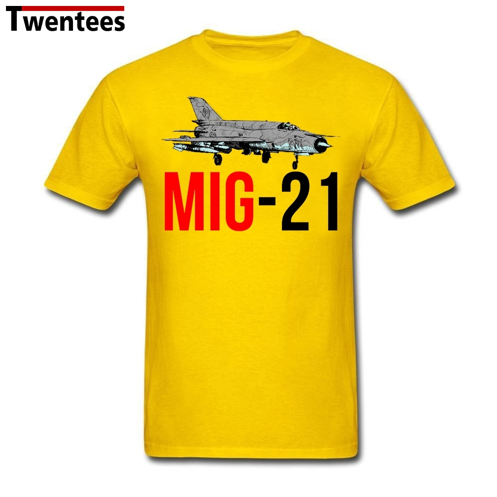 Men's Boy MIG 21 Jet Air Plane T Shirt MIG 21 Jet Air Plane Tee Shirts Short Sleeve Father's Day Custom Male Men(China (Mainland))