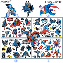 Buy FGHGF 4PCS Cartoon superhero Child Temporary Body Art Flash Tattoo Sticker 17*10cm Waterproof painless tattoo for $1.87 in AliExpress store